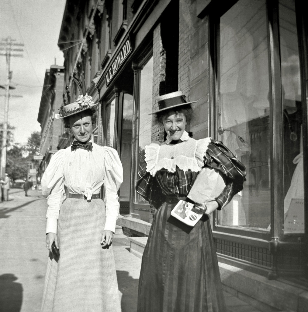 Mabel and Daisy on the street